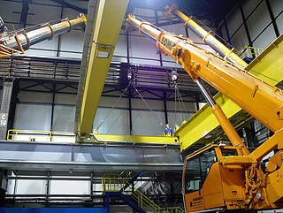 End-carriage replacement on a semi-automated crane at ArcelorMittal Bremen
