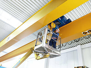Crane services: for example maintenance of a drive unit in a crane system about 25 tonnes