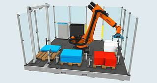 Simulation of robotic palletizing