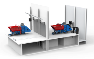 rail-mounted transport machines - 3D model