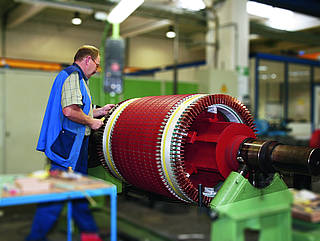 Repair of a slipring motor at HeidelbergCement