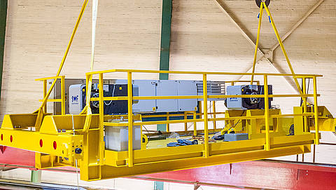 Construction and installation of a double-girder bridge crane at Mitsubishi HiTec Paper Europe