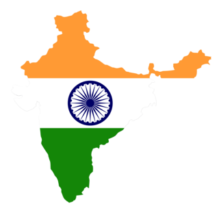 Map India in country colours