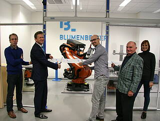 Opening ceremony of our robotic machining laboratory in Brno