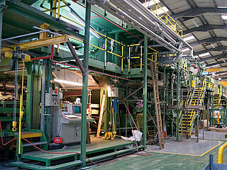 Modernisation of a floor-coverings production line at Tarkett Marley Floors