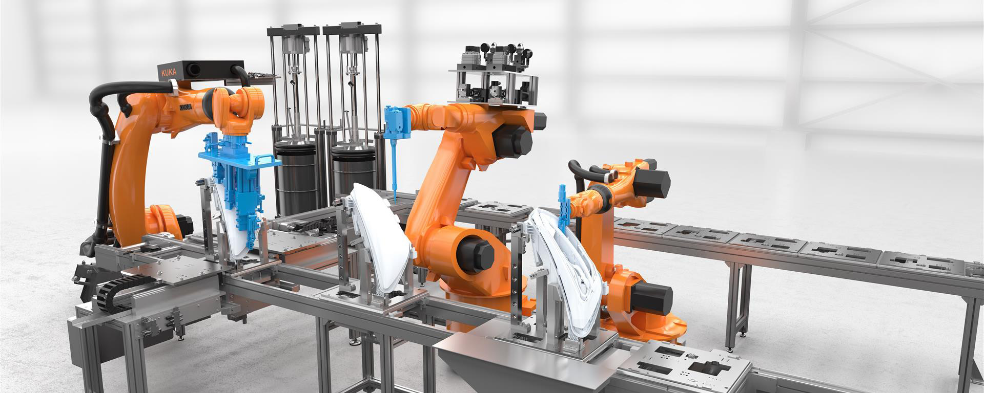 Robotic gluing solutions